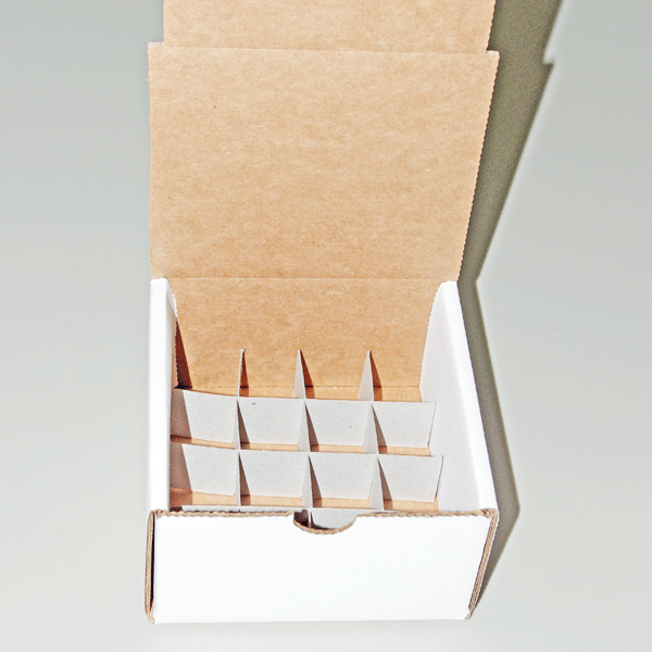 store your essential oils in this heavy duty cardboard box