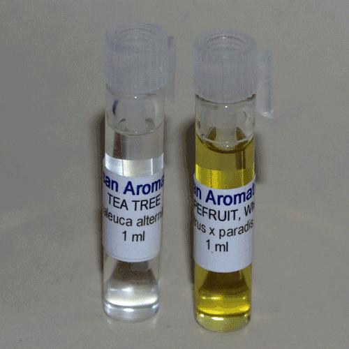 essential oil samples in 1ml vials