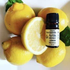 Artisan Aromatics Organic Lemon Essential Oil