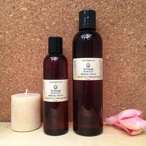Mental Focus Massage Oil Blend - Artisan Aromatics